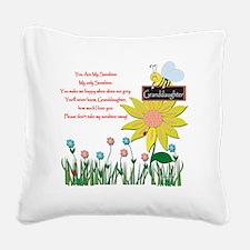 You Are My Sunshine Grandaugh Square Canvas Pillow