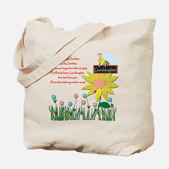 You Are My Sunshine Grandaughter Tote Bag