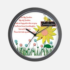 You Are My Sunshine Grandaughter Wall Clock