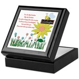 Music granddaughter you are my sunshinr Square Keepsake Boxes