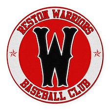 Reston Warriors Baseball Club Round Car Magnet
