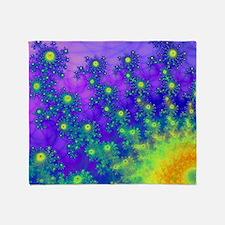 Purple Swirling Sun Throw Blanket