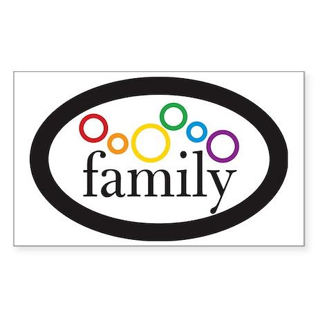 family euro sticker Sticker (Rectangle)