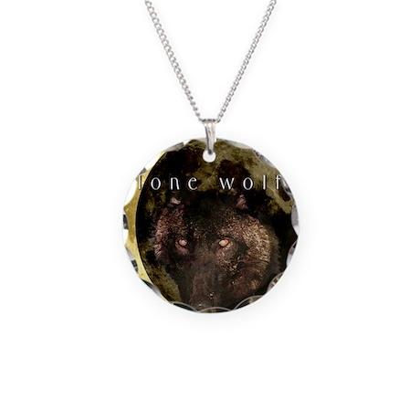 LoneWolfTileKeepsake Necklace Circle Charm