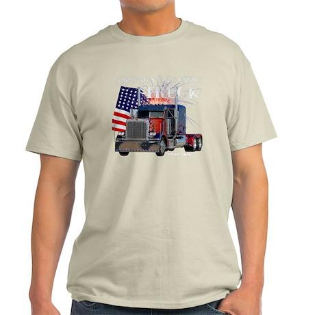 2-Am_Dark_Peterbilt_CP Light T-Shirt