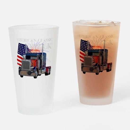 2-Am_Dark_Peterbilt_CP Drinking Glass
