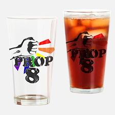 smash prop 8 Drinking Glass