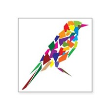 "Abstract Colorful Bird Square Sticker 3"" x 3"""