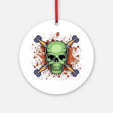 dart-skull-T Round Ornament