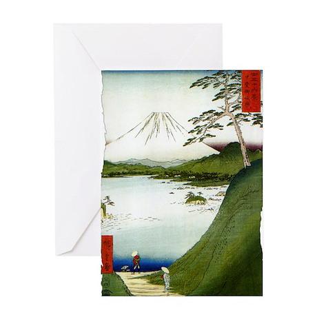Mt. Fuji Seen From a Lake 1858 Hiros Greeting Card