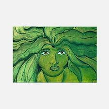 Greenwoman1 Rectangle Magnet
