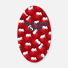 crazynotes Oval Car Magnet