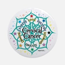 Cervical-Cancer-Lotus Round Ornament