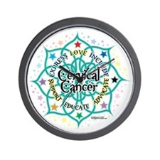 Cervical-Cancer-Lotus Wall Clock