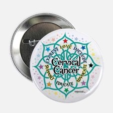 "Cervical-Cancer-Lotus 2.25"" Button"