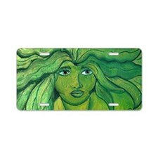 Greenwoman1-4x2jpg Aluminum License Plate