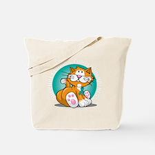 Cervical-Cancer-Cat-blk Tote Bag