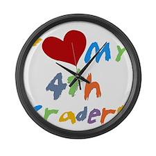 HEART4THGRADERS Large Wall Clock