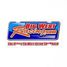2010 Big West Racing LOGO Aluminum License Plate