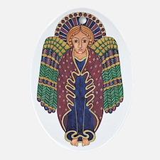 Celtic Angel Oval Ornament