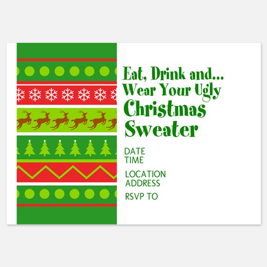 Ugly Christmas Sweater Invitations