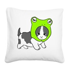 froghead Square Canvas Pillow