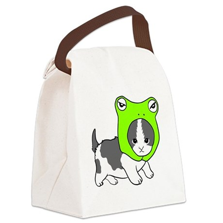 froghead Canvas Lunch Bag