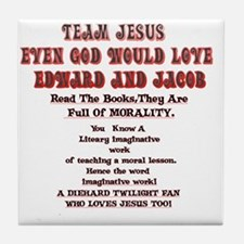 2-Loves JesusToo!2 Tile Coaster