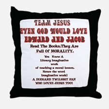2-Loves JesusToo!2 Throw Pillow