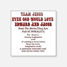 """2-Loves JesusToo!2 Square Sticker 3"""" x 3"""""""