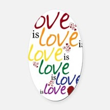 love is love Oval Car Magnet