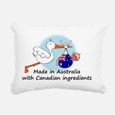 stork baby austr can Rectangular Canvas Pillow