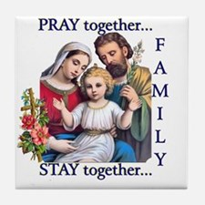 pray_together_12x12-clear Tile Coaster