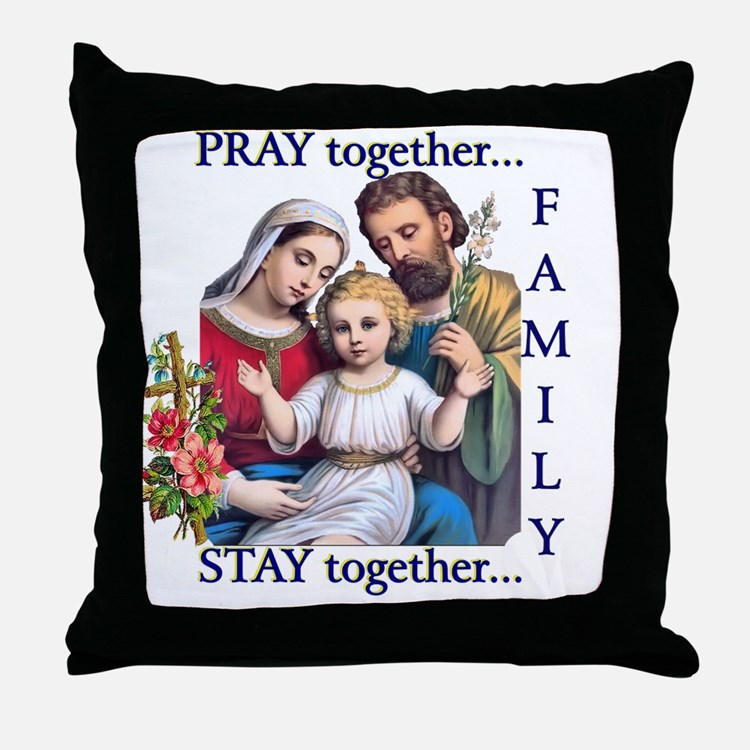 pray_together_12x12-clear Throw Pillow