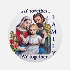 pray_together_12x12-clear Round Ornament
