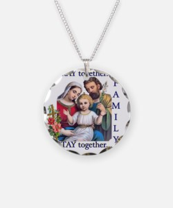 pray_together_12x12-clear Necklace