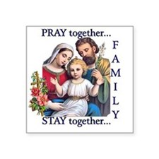 "pray_together_12x12-clear Square Sticker 3"" x 3"""