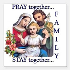 "pray_together_12x12-clea Square Car Magnet 3"" x 3"""