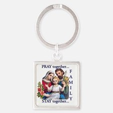 pray_together_12x12-clear Square Keychain
