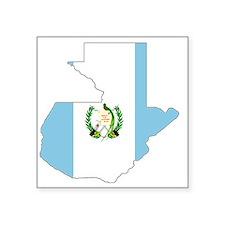 """Guatemala_mapflag Square Sticker 3"""" x 3"""""""