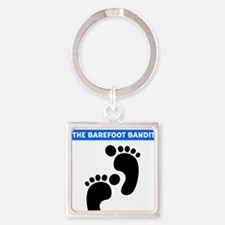 colton-footprints Square Keychain