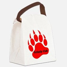 Grizzly Cub Canvas Lunch Bag