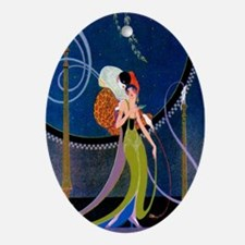 dancer and clown Oval Ornament