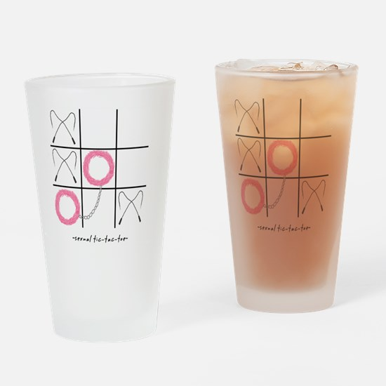 Sexual Tic-Tac-Toe Drinking Glass