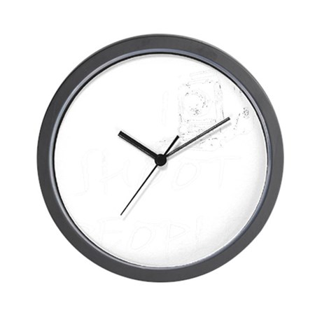 black t copy Wall Clock