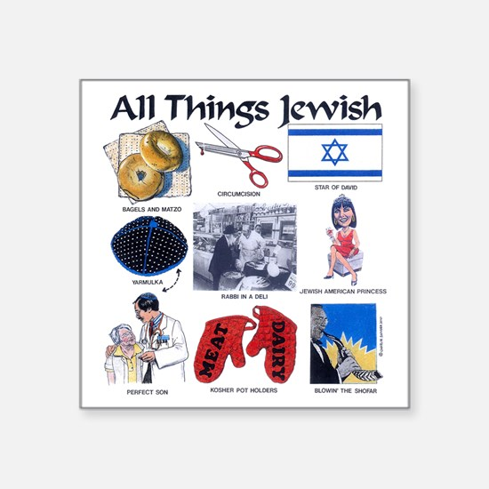 "All thing Jewish Square Sticker 3"" x 3"""