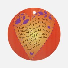 Thanksgiving note card Round Ornament