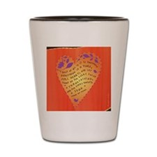 Thanksgiving note card Shot Glass