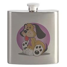 Crohns-Disease-Dog-blk Flask