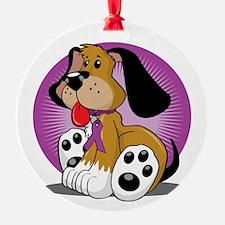 Crohns-Disease-Dog-blk Ornament